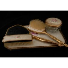 Part Dressing Table Set Tray Brush Mirror and Cream Pot