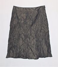 LUXE by BROWN SUGAR Brand Khaki Crinkle A Line Skirt Size 12 BNWT #TH08