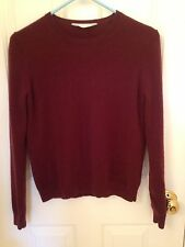 Everlane Burgundy Cashmere Sweater Small