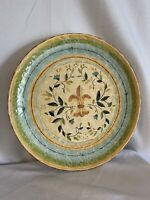 "Certified International Pamela Gladding  15"" Platter Verona/ Fleur Di Lis Exc"