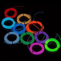 1pcs 15M x 2.3mm LED Flash Flexible Neon Light Glow EL Tube Wire Rope Car Party