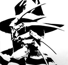 "Freddy Silhouette Horror Movie Black White Minimalist Cool Simple 3"" Sticker"