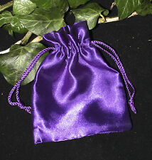 Purple Satin Drawstring bag for charms, spells, crystals, charms, Pagan, Wicca