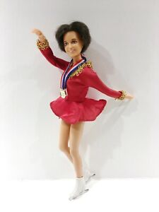 1977 Vintage Ideal Dorothy Hamill Olympic Skater Doll TWO Org Outfits & Skates
