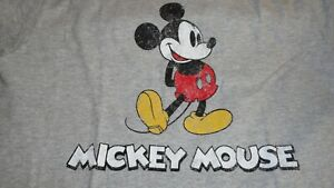 Large 10/12 Youth Classic Mickey Mouse Gray Tee Shirt NWT Disney
