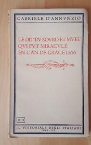 Le dit du sourd et muet qui fut miraculè en l'an de grace 1266 - D'Annunzio 1942