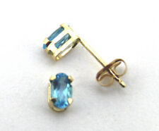 Klassische ovale Ohrstecker Gold Blautopase Peridot oder Granat
