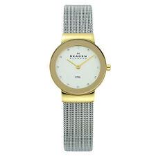Skagen 358SGSCD Women's Crystal White Dial SS Mesh Bracelet Watch