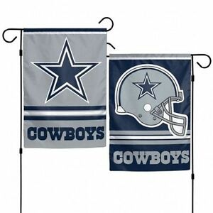 """DALLAS COWBOYS 2 SIDED 12""""x18"""" GARDEN FLAG NEW & OFFICIALLY LICENSED"""