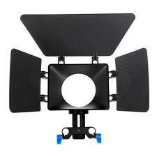 New Plastic Matte Box Sunshade for DSLR Camera Camcorders 15mm Rod Rail Rig
