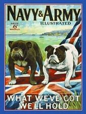 Navy & Army Forces, British Bulldogs, Dog, Vintage, Medium Metal/Tin Sign