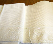 "The Company Store White TWIN Matelesse Lace Coverlet Bedspread 63""x88"" COTTON"