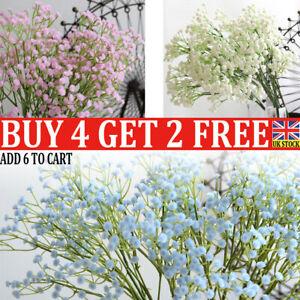 60cm Gypsophila Baby's Breath Artificial Fake Flower Home Wedding Decor UK QN