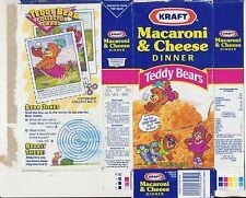 Kraft Macaroni & Cheese Empty Box - Teddy Bear Collector Card - Albearto - 1992