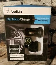 Belkin Car Micro Charger w/ 3ft Sync Cable Black  Apple iPhone- iPad & iPod