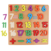 1-20 Numbers Wooden Chunky Blocks Puzzle Board Educational Toy for Kids