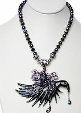 KIRKS FOLLY CIRCE FAIRY WITCH NIGHTRIDER CROW MAGNETIC NECKLACE ~ NEW RELEASE ~