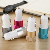 2-Port Mini Bullet Universal Dual USB Car Charger Adapter For Smart Mobile Phone