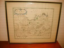 framed print of SURREY map by Robert Morden from circa 1695