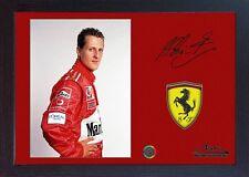 Michael Schumacher Ferrari Firmato Autografo Motor Sport Memorabilia FORMULA 1