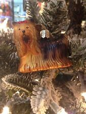 Old World Christmas-Yorkie Ornament