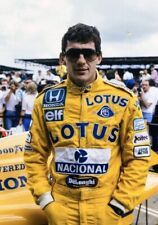 F1 Ayrton Senna LOTUS  Printed Suit Go Kart/Karting Race/Racing Suit