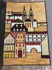 Polish Handwoven Kilim Rug Towers Tapestry by Piotr Grabowski for Cepelia, 1972