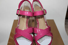 Authenthic UGG Patent Leather Jackilyn Princess Pink, Wedge Sandals Size 9.5 (M)