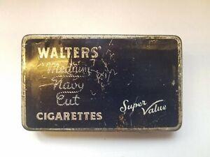 Vintage Cigarette Tobacco Advertising Tin- Walters Medium Navy Cut 30 Cigarettes