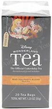 NEW Disney Parks Alice in Wonderland MAD TEA PARTY Black Tea Blend 20 Tea Bags