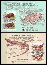 Korea - SC 1865a-66a Turtle and Lizard SS 2v 1996