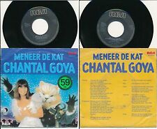 "CHANTAL GOYA 45 TOURS 7"" HOLLANDE MENEER DE KAT (EN NEERLANDAIS)"