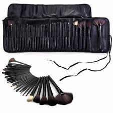 Professional 32 Pcs Kabuki Make Up Brush Set and Cosmetic Brushes Case-Black