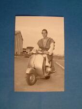 LAMBRETTA VESPA POST CARD CHARLTON HESTON  ITALIAN CARD 15 YEARS OLD