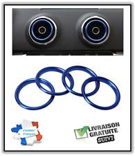 AUDI A3 S3 Cercle Anneau BLEU Buse Grille Ventilation Aération buse Intérieur