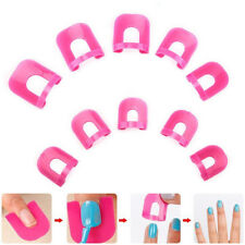 26X Manicure Finger Nail Polish Shield Protector Nail Art Tips Cover Case Supply