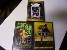 NIGHT OF THE LIVING DEAD/ NIGHT OF THE LIVING DEAD 3D/ DAY OF THE DEAD- LOT OF 3