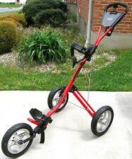 Bag Boy EXPRESS 3-Wheel RED Push / Pull Golf Cart w/ Air Pump ~ Very Good