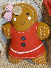 Sass & Belle Gingerbread Girl Cushion/Pillow Home Decor Gift