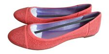 WOMENS BLINK BRIGHT RED KID SUEDE GLITTER SHOES SIZE UK 5 BRAND NEW
