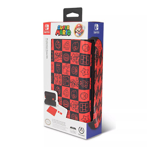 Nintendo Switch Lite Protection Case Kit Super Mario Checkerboard New