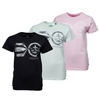 Ladies Crosshatch Short Sleeve Top Lace Up Detailing T Shirt Sizes from 8 to 16