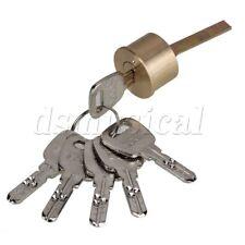 Polished Brass Replacement Rim Cylinder Door Lock Nightlatch Line Shaped