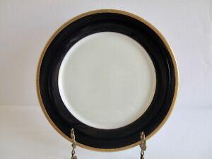 Noritake Legacy Valhalla Dinner Plate Ivory Cobalt Blue Band Gold Rim 2799