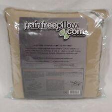 Massage Pillow 14 x 14 Pain Free Vibration Patterns Back Neck Therapuetic Euc