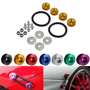 7 Color JDM Quick Release Fasteners For Car Bumpers Trunk Fender Hatch Lids Kits