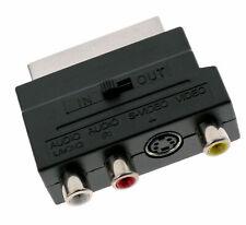 ADAPTATEUR RGB PERITEL 3 RCA + S-VIDEO 20 broches SCART