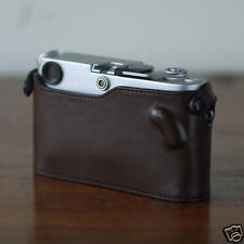 Mr.Zhou Brown Leather Half Case For Leica M3 M2 M4 M6 M7 MP without ASA cutout
