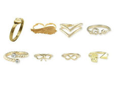 Midi  Rings in  Gold Overlay (Infinity, Arrow, Chevron, Bow, Love) Gift-Boxed