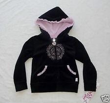 Fleurish Girl Black  Embellished Velour Hooded Jacket Girls size 5 NWT G82301